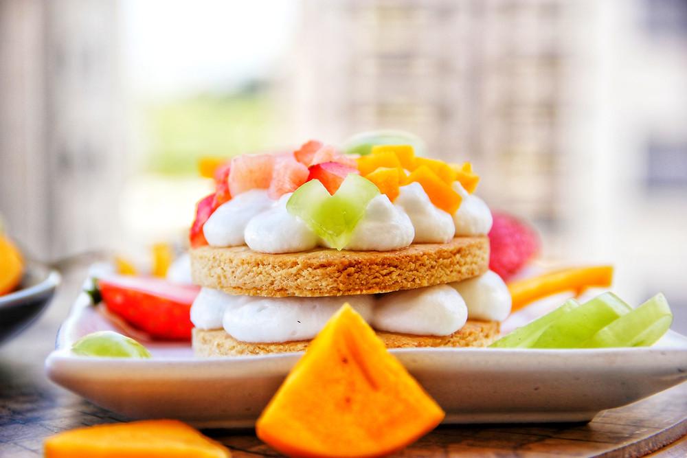 בצק פריך, ללא גלוטן, פליאו, פירות, עוגת מספרים, עוגת פירות