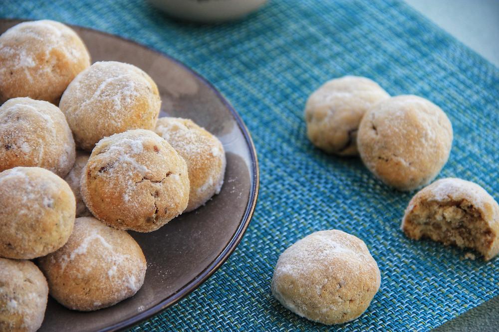 עוגיות, פקאן, פקאנים, דרך טבע, קמח כחול, קמח דרך טבע, ללא גלוטן, ללא סוכר, צליאק, פליאו, סכרתיים, אפייה, פסח, בריא, אבקת סוכר
