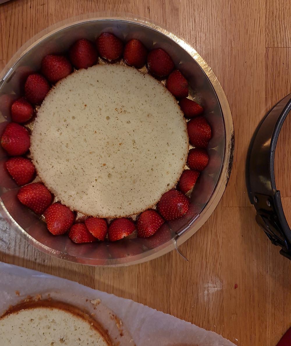 תותים, וניל, עוגה ללא גלוטן, פליאו, עוגת מסקרפונה, מסקרפונה, עוגת וניל תותים ומסקרפונה דרך טבע, עוגה דרך טבע, עוגת דרך טבע