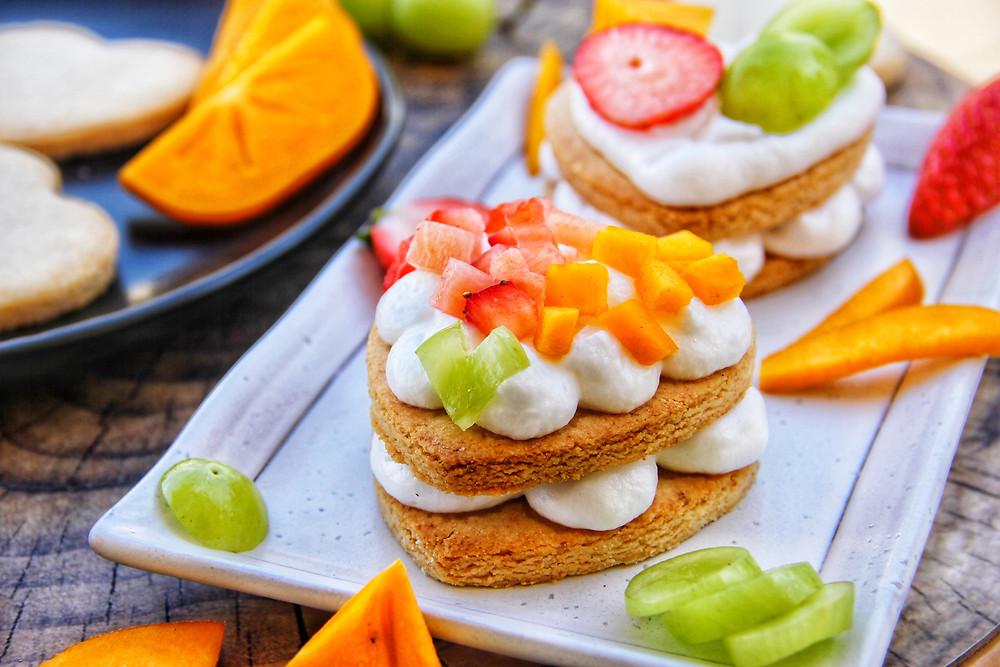 בצק פריך, עוגת מספרים, מרנג, ללא גלוטן, פליאו, פירות