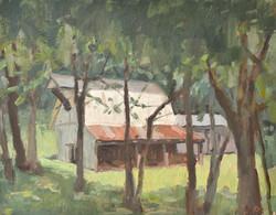 Barn in the spotlight