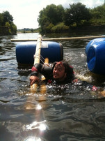 Improvised Rafting in the sun