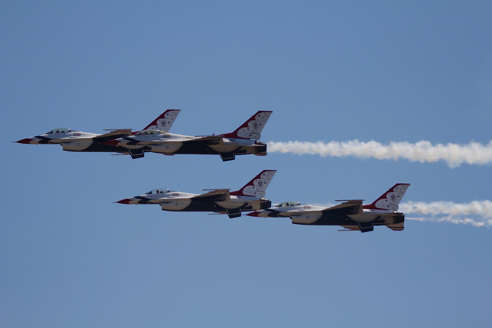 usaf thunderbirds, thunderbirds, F-16, military aircraft, melbourne air show, melbourne air show 2018, melbourne air and space show 2018