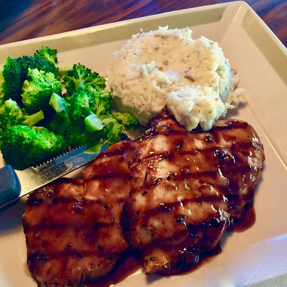 99 Restaurant & Pub Augusta Maine, gluten free food maine, gluten free food augusta, gluten free 99 Restaurant & Pub, balsamic grilled chicken, gluten free balsamic grilled chicken