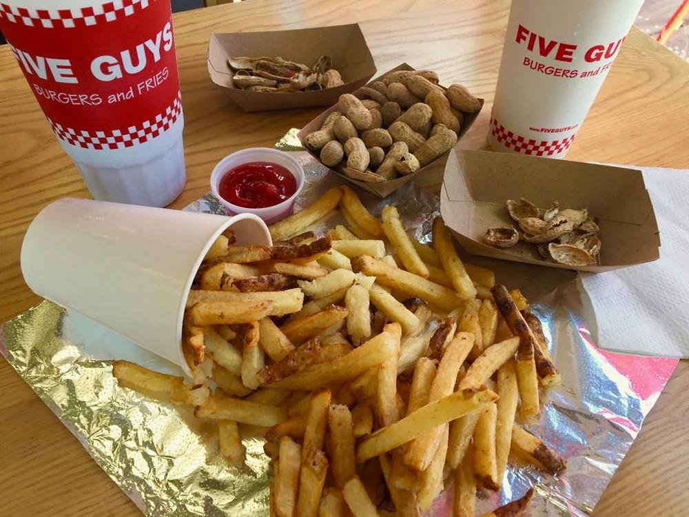 Five Guys Burgers and Fries, five guys, gluten free fries, gluten free burgers, gf fries, gf burgers, gluten free atlanta, gf atlanta