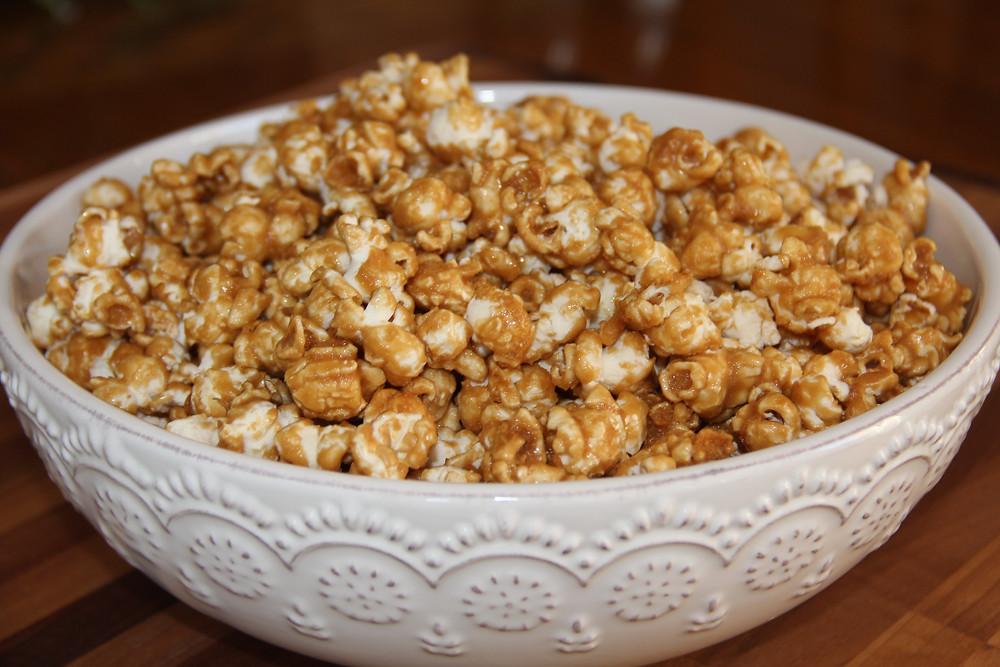 gluten free, gluten free caramel corn, gluten free snacks, gf foods, gf caramel corn