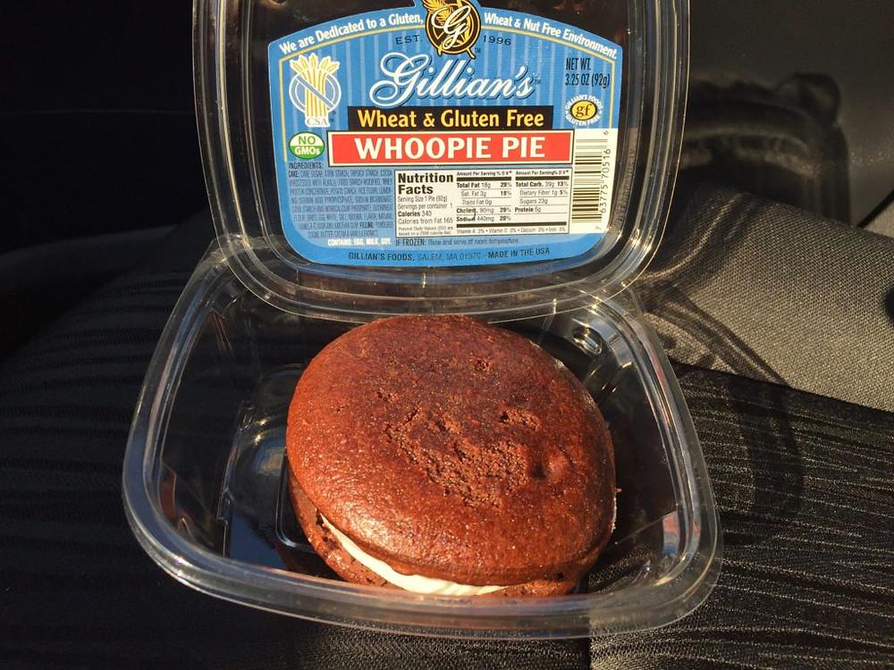 Gillians Whoopie Pie, Gillians Foods, gluten free whoopie pie, gf whoopie pie, Gillians gluten free desserts