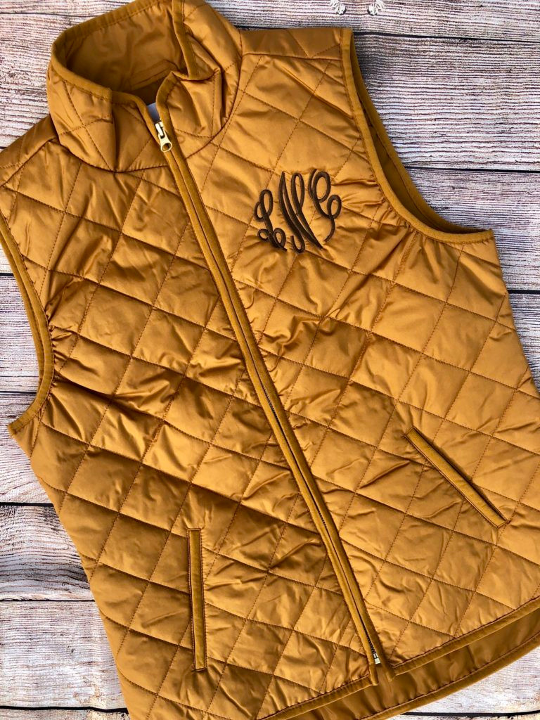 fall giveaway, contest, giveaway, blog giveaway, Old Navy vest, embroidery, monogramming