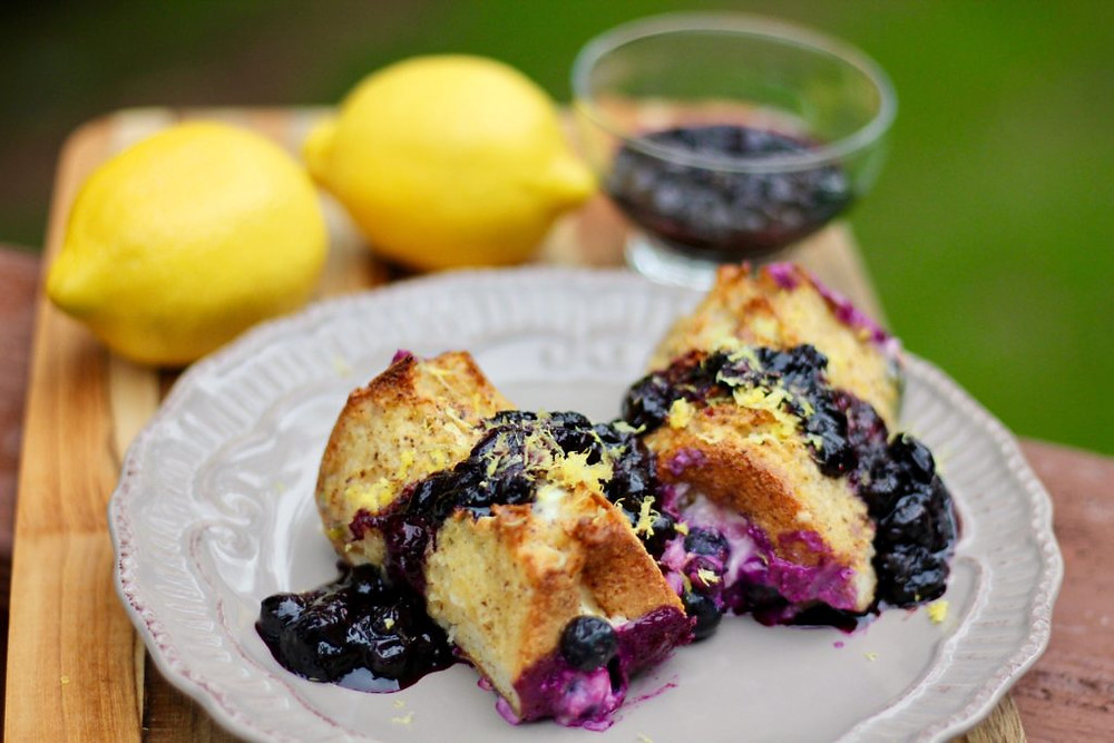 Gluten Free Lemon Blueberry French Toast, gf lemon blueberry French Toast, gluten free breakfast,gf breakfast, gluten free french toast