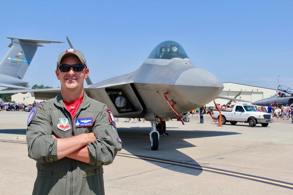 F-22 Raptor, F-22, Major Dan Dickinson, Seymour Johnson AFB NC, Seymour Johnson AFB Air Show, Wings Over Wayne 2017