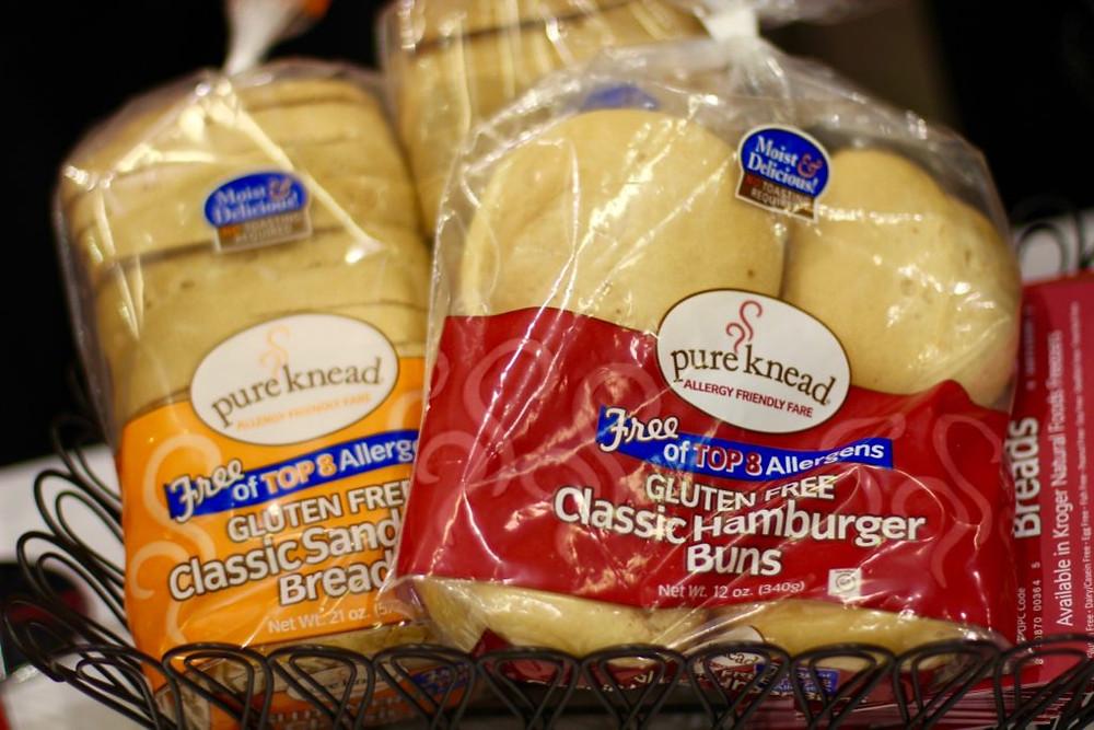 pure knead gluten free bread, pure knead gf bread, pure knead, gluten free bread, gluten free hamburger buns, gf bread, gf hamburger buns