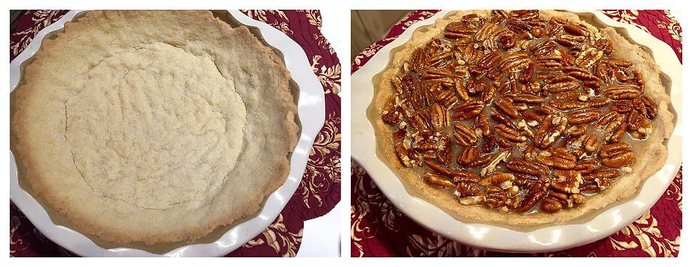 gluten free pecan pie, gf pecan pie
