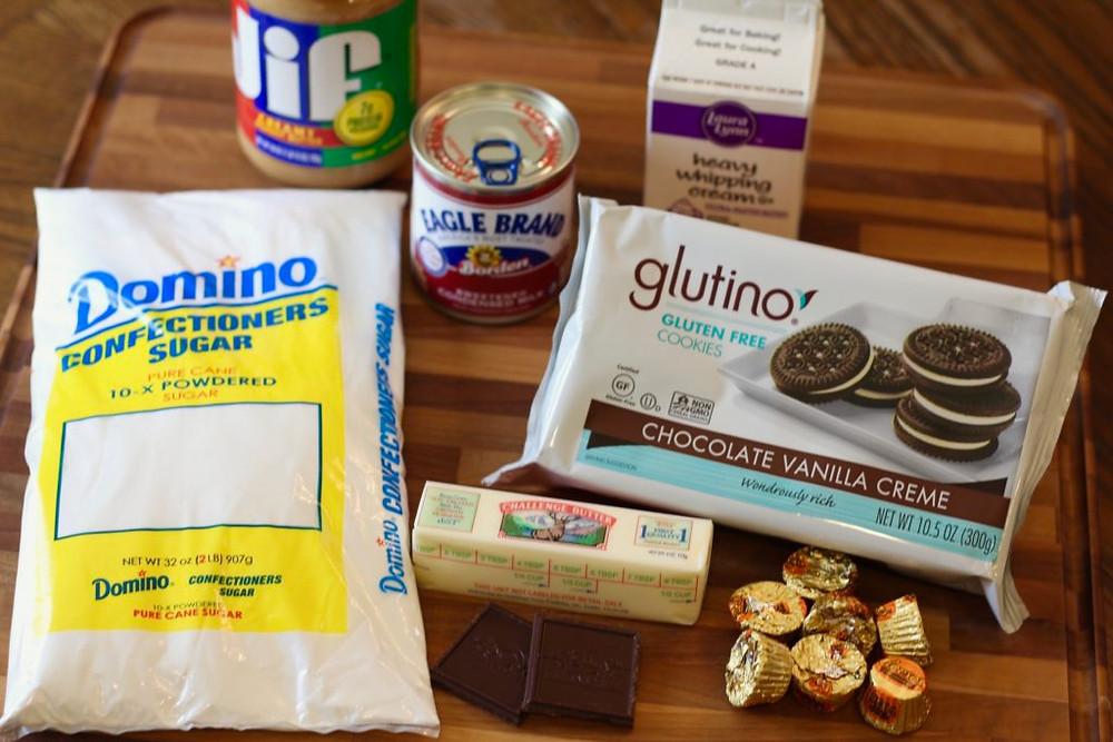 Gluten Free Peanut Butter Chocolate Cream Pie,GF Pie,Gluten Free Pie,Glutino, Glutino Gluten Free Cookies