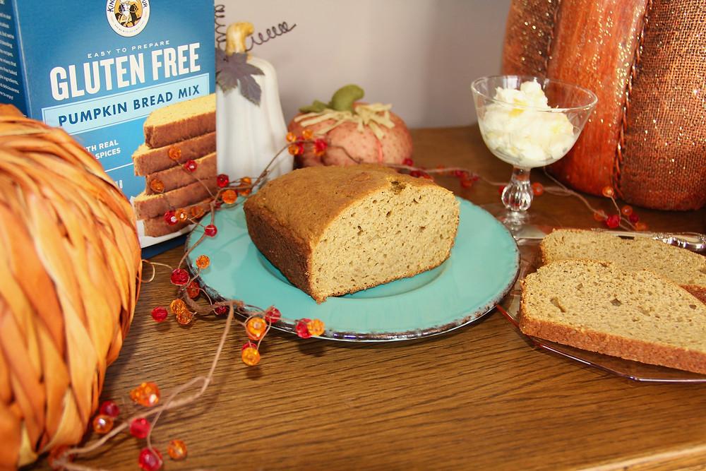 Gluten Free Pumpkin Bread, King Arthur Flour,