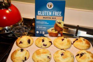 king arthur flour, king arthur gluten free flour, gluten free flour, gluten free blueberry muffins, gf blueberry muffins, gf flour, gf king arthur flour, king arthur gluten free blueberry muffin mix