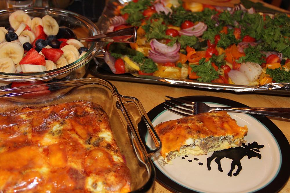 gf foods, gf breakfast, gluten free breakfast, gluten free breakfast sausage casserole, roasted veggies, roasted vegetables