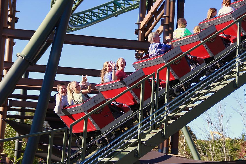 dollywood, dollywood TN, roller coasters dollywood