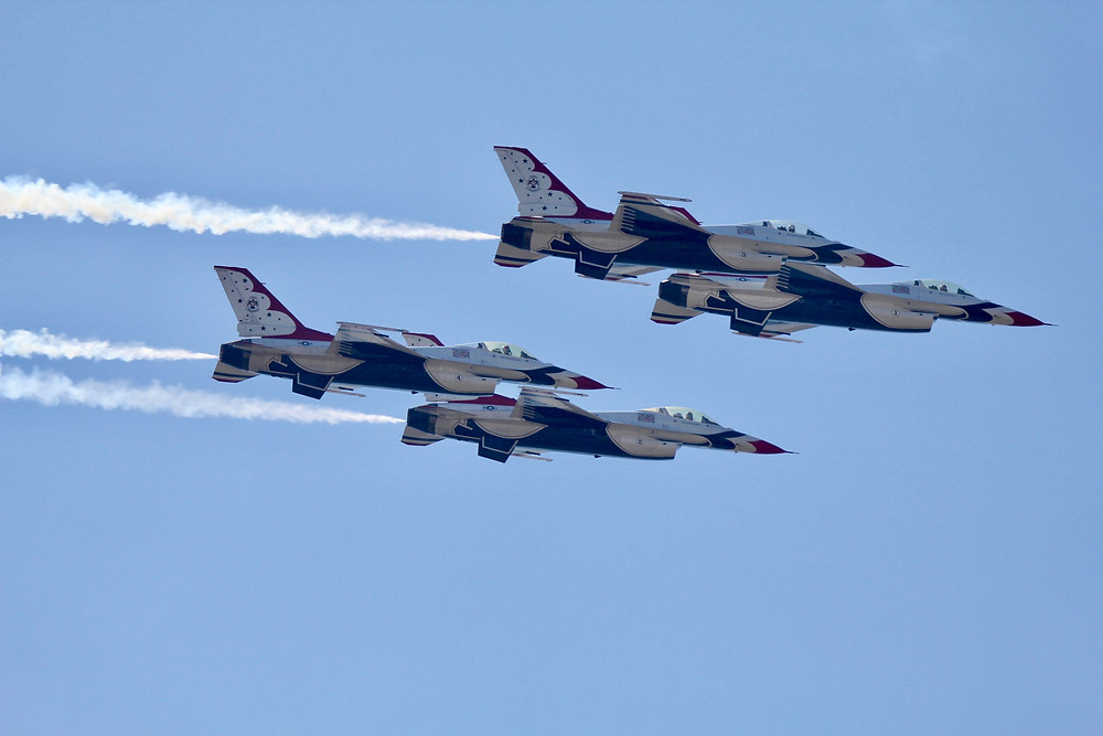 usaf thunderbirds, thunderbirds, F-16, melbourne fl, melbourne air & space show 2018, melbourne air show 2018, military aircraft, military air shows