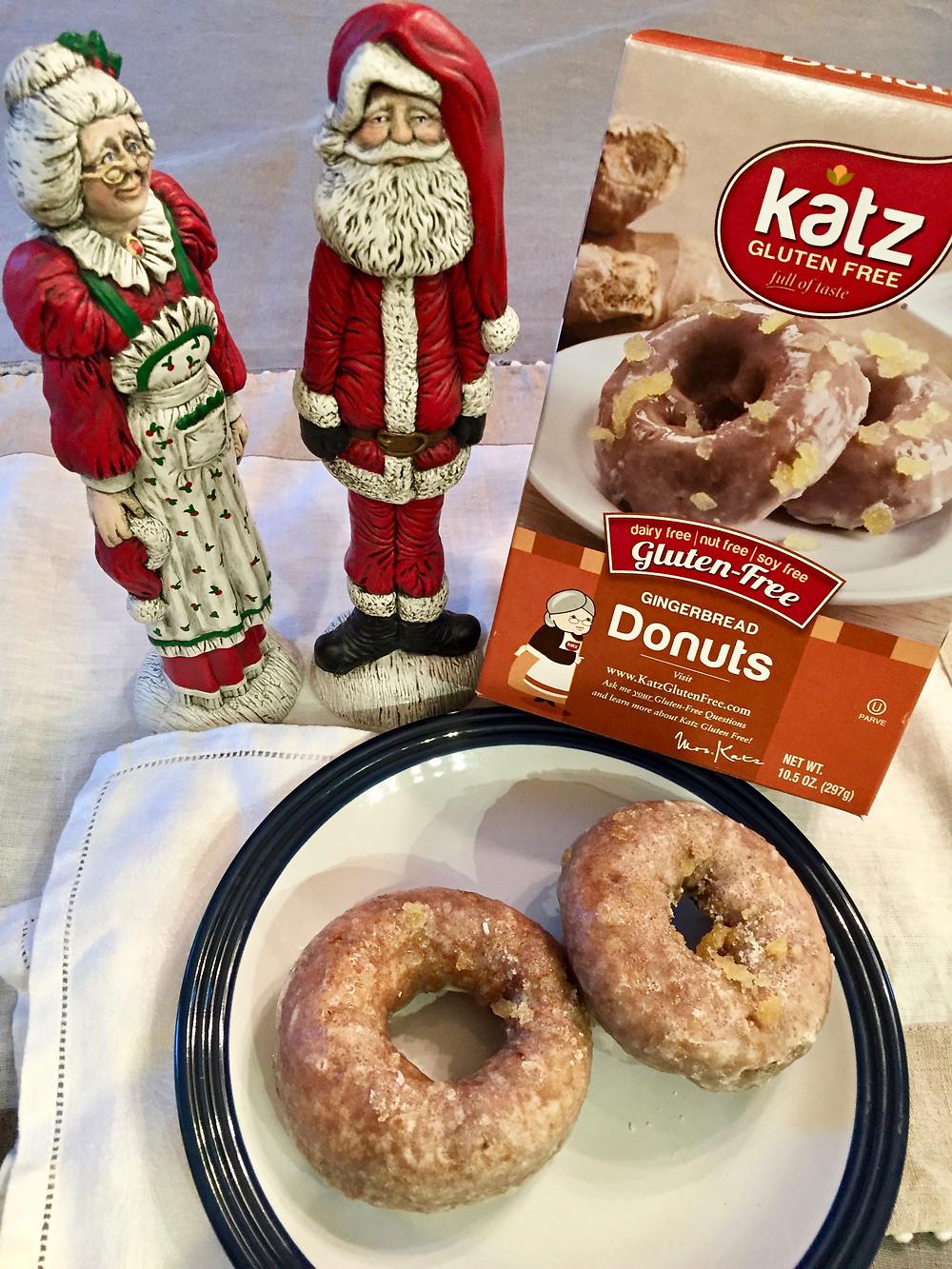 katz gingerbread doughnuts, katz gf gingerbread doughnuts, gluten free katz doughnuts