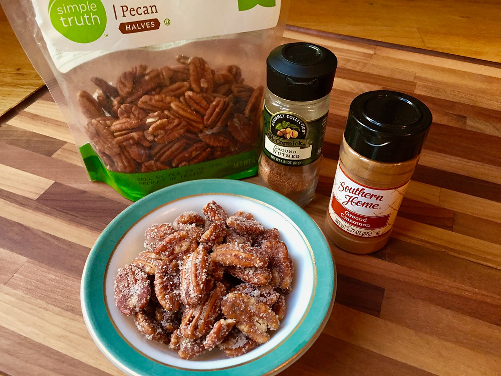 Gluten free spiced nuts, gf spiced nuts, cinnamon pecans, gluten free cinnamon pecans, gf cinnamon pecans
