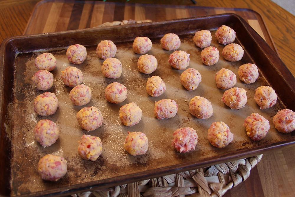 gluten free sausage balls, gf sausage balls, jimmy dean sausage, jimmy dean gluten free sausage