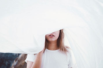 Girl Behind a Sheet