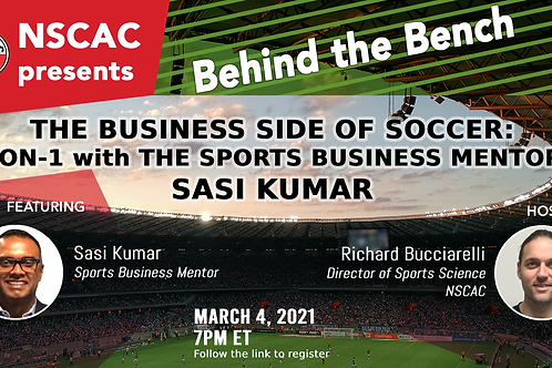 Behind The Bench, Episode 19: The Business Side of Soccer