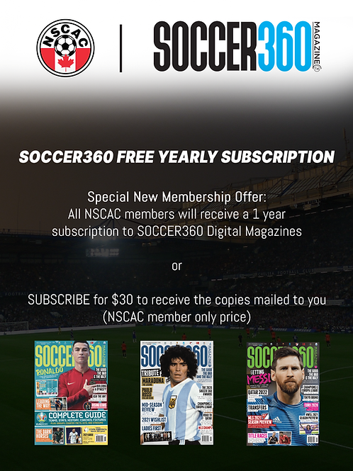 Soccer 360 Magazine Subscription for 1 year