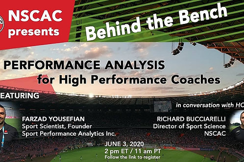 Behind the Bench, Episode 3:  Performance Analysis for High Performance Coaches