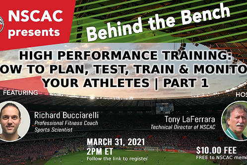 High Performance Training: How to Plan, Test, Train, & Monitor Your Athletes