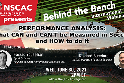 Behind the Bench, Episode 40: Perf. Analysis - What Can Be Measured in Soccer