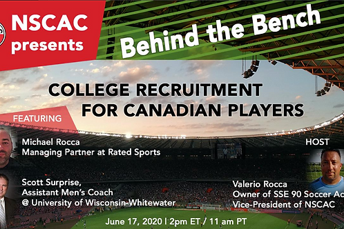 Behind the Bench, Episode 4:  College Recruitment for Canadian Players