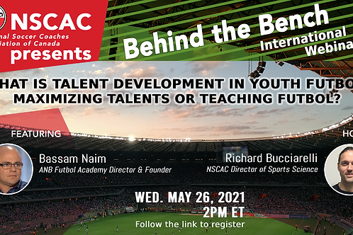 Behind the Bench, Episode 34: What Is Talent Development In Youth Futbol?
