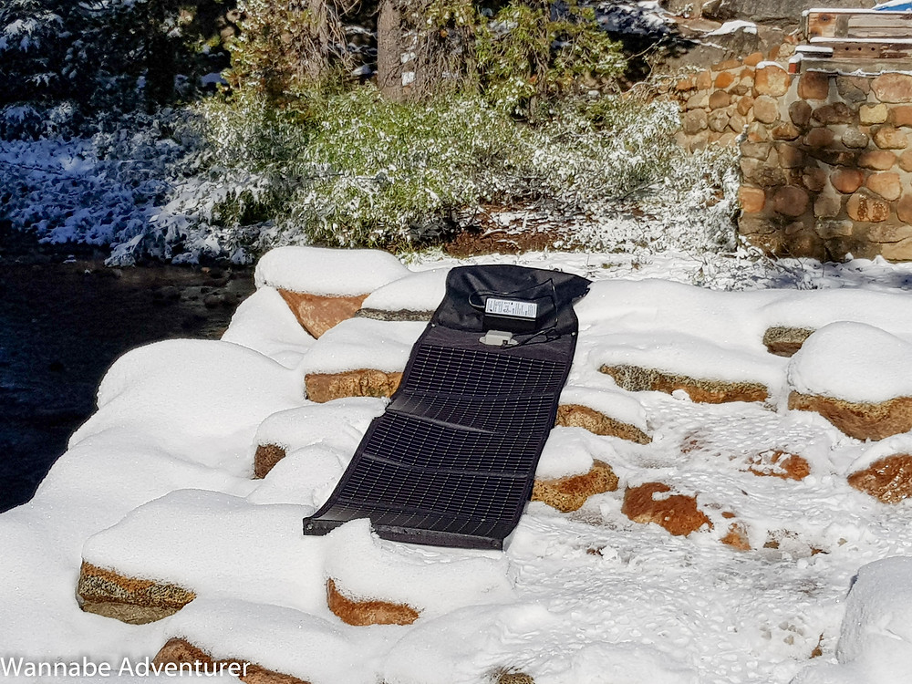 Solar charger for CPAP for hiking and backpacking