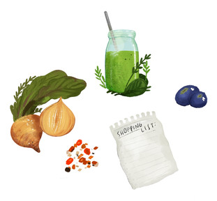 Recipe Book Food Illustrations / Modern Love Brooklyn