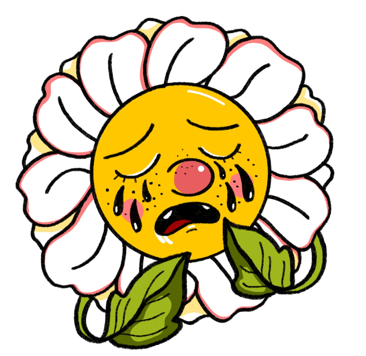 Crying Daisy T-Shirt Logo