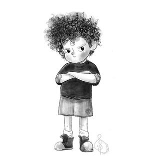 Grumpy Boy Character