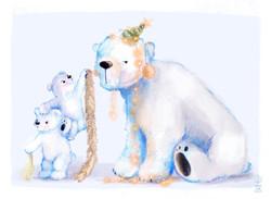Polar Bear Merry Christmas