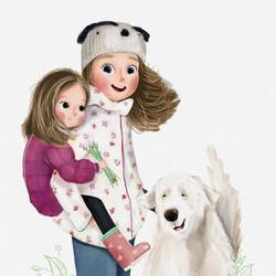 Siblings Character Illustration