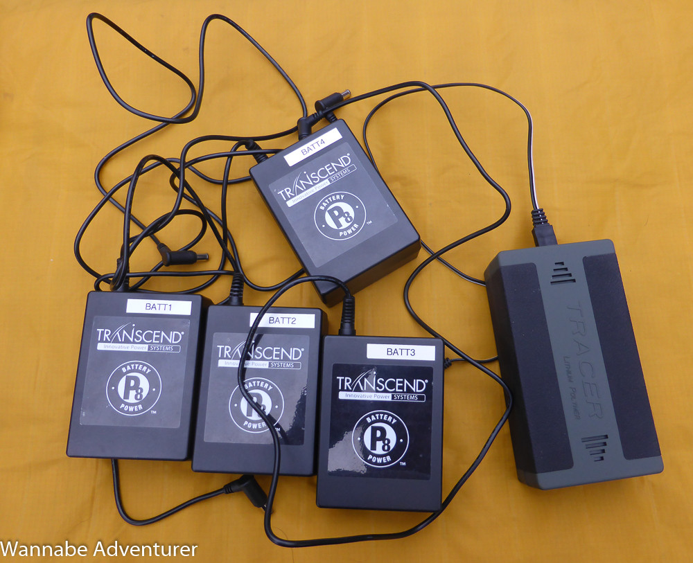 Batteries for hiking and backpacking with a CPAP