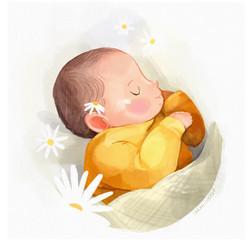 Little Sunday Baby Illustration