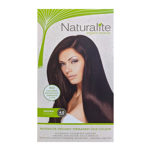 Naturalite Organic Permanent Hair Colour 4.0 (Brown)