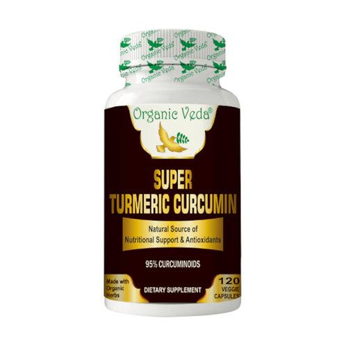 Organic Veda Super Turmeric Curcumin (120 Capsules)