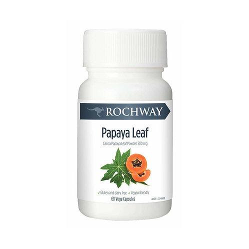 Rochway Papaya Leaf (60 vege capsules)
