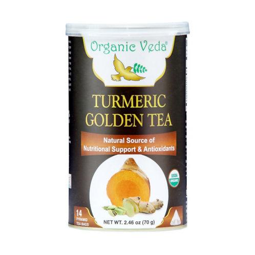 Organic Veda Turmeric Golden Tea (14 Pyramid Tea Bags)