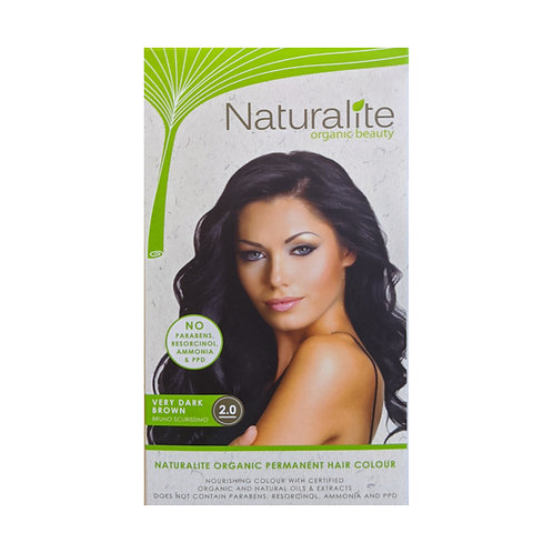 Naturalite Organic Permanent Hair Colour 2.0 (Very Dark Brown)