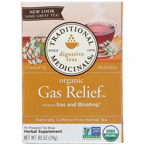 Traditional Medicinals Organic Gas Relief Tea (16 Sachets)