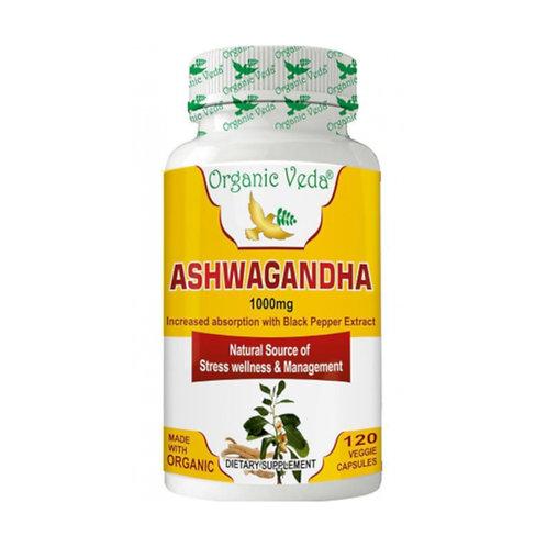 Organic Veda Ashwagandha (120 Capsules)
