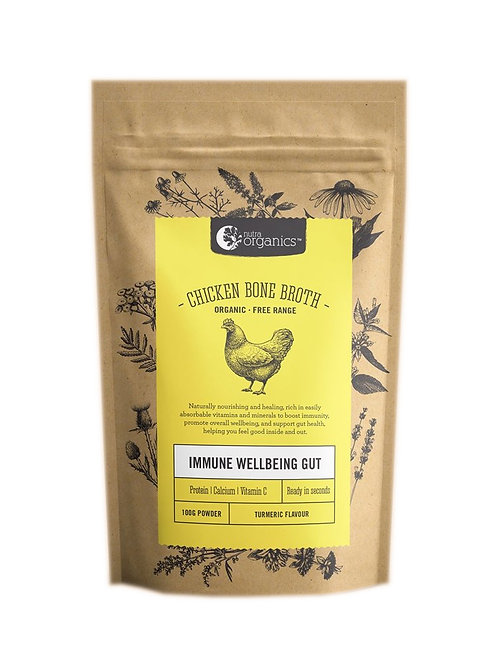 Nutra Organics Chicken Bone Broth Turmeric (100g)