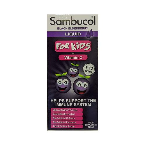 [Exp Dec 2021 ] Sambucol Liquid for Kids + Vitamin C (120ml)